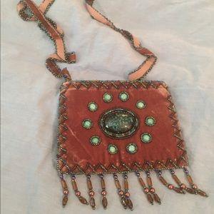 Handbags - Small Handmade Beaded and Embellished Velvet Bag
